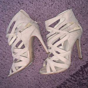 Suede tan heels